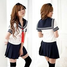 New Japanese High School Girl Sailor Uniform Cosplay Costume dress FREE SHIP