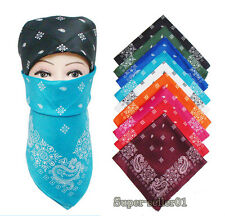 Neu Cotton Paisley Bandanas double sided head wrap scarf Schal 12 Farben