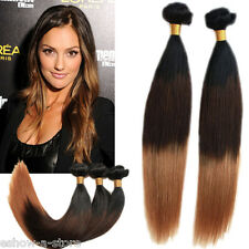 New 100g ombre color two tone 100g STRAIGHT  1B/33/27# BRAZILIAN human hair hot