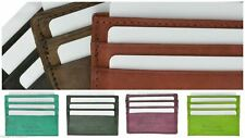 Slim Leather Wallet Credit Card Holder  Thin Wallet in Attractive Colors