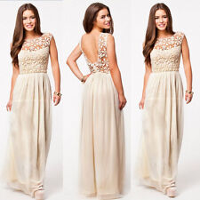 Womens Chiffon Evening Formal Party Ball Gown Prom Bridesmaid Long MAXI Dresses