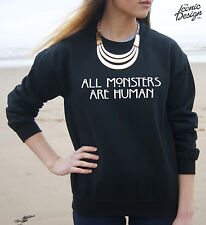 All Monsters Are Human Jumper Sweater Fashion Blogger Tumblr Top Grunge Horror