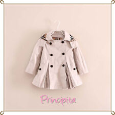GIRLS Jacadi Double Breasted Trench Coat Outwear Jacket with Belt