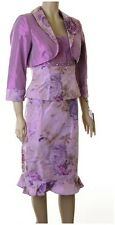 Designer Frank Usher 3 Piece Silk Suit Outfits Mother of Bride Occasion? UK 12