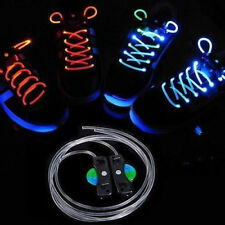 1 Pair String Flash LED Light Shoe Shoelaces Strap Glow Stick Shoestring