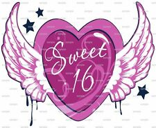 Happy Birthday Sweet Sixteen ~ Frosting Sheet Cake Topper ~ Edible Image ~ D2204