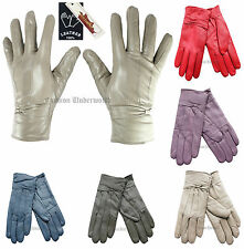 Womens Fleece Lined Thermal Insulated Genuine Leather Gloves 5 Colors Available