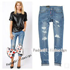 2014 New DSQUARED2 Womens Slim Hole Do the old Collapse pants Nine points jeans