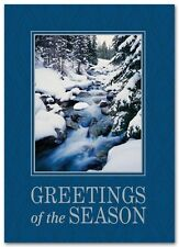 Budget Christmas Cards GREETINGS of the SEASON with inset photo