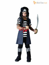 Boys Pirate Costume Kids Caribbean Fancy Dress Book Week Outfit Age 6 7 8 9 10