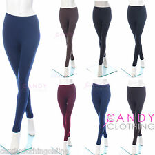 Ladies New Thick Thermal Trousers Leggings Fleece Black Pants Tights Ski Size