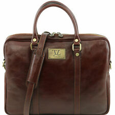TUSCANY LEATHER lady leather document briefcase I pad holder made in Italy