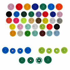 50Sets Size16/20/24 Round Plastic Snap Fasteners Buttons for Clothes Diapers