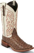 Nocona Womens Full Quill Ostrich Boot Made in USA Square Toe Tan Medium LD6511