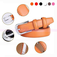 Hot Colorful Genuine Leather Womens Crystal Studded Buckle Waistband Strap Belts
