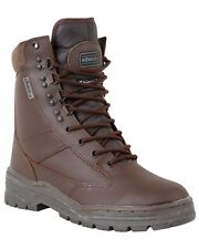 Army Full Leather BROWN Combat Patrol Boot Tactical Military Cadet Sizes 6 -11