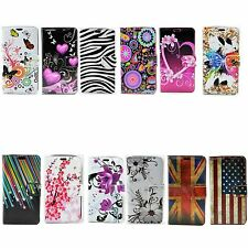 Pretty Leather Skin Stand Card Soft TPU Phone Pouch Cover Case For LG G2 D802