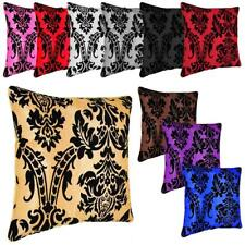 """NEW CUSHION COVER FLOCK DAMASK LUXURY CUSHION COVERS ALL COLOURS 18""""X 18"""""""
