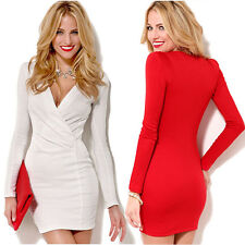 1PC Sexy Women Long Sleeve Slim Bandage Bodycon Party Cocktail Dress Nice