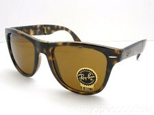 Ray Ban Folding Wayfarer 4105 710 Havana Brown New Authentic *Buyer Picks Size