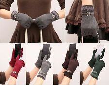 New Hot Lace Women Winter Warm Easy Click Touch Screen SmartPhone Magic Gloves