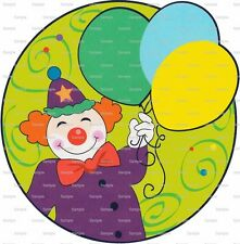 Birthday Clown ~ Frosting Sheet Cake Topper ~ Edible Image ~ D1125