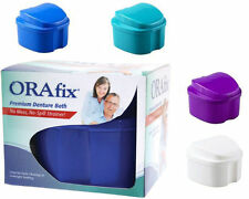 ORAFIX PREMIUM DENTURE BATH Holder (WHITE GREEN BLUE or PURPLE) NEW NIB