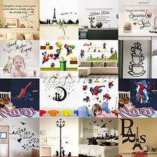 DIY Removable Art Vinyl Quote Wall Stickers Decals Mural Home Kids  Room Decors