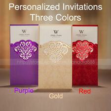 Personalized Laser-cut Pattern Wedding Invitations Cards & Envelopes and Seals