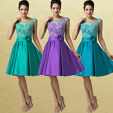 Sexy Lace Sleeveless Cocktail Bridesmaid Evening Prom Party Formal Short Dresses