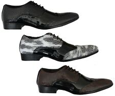 MENS FORMAL SHOES SHINY NEW GIO GINO POINTED OFFICE PARTYWEAR LACE UP