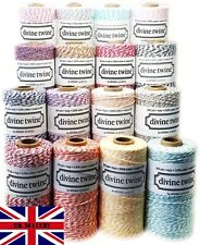 10m Divine Bakers Twine DIY Wedding Crafts Party Card Making Choice of Colours