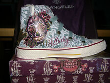 """New CHRISTIAN  AUDIGIER Men's High Top Leather Shoes in """"Blood"""" UK Size 11"""