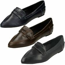Sale Ladies spot on Brown,Navy and Black slip on shoes F80040