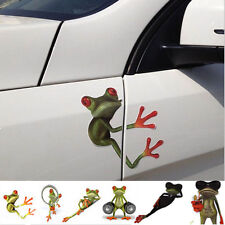 Hot 3D Cute Frog Funny Car Stickers Truck Window Vinyl Decal Graphics 9 Styles