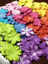 100 Artificial Mulberry Paper Handmade Trimming Scrapbooking Mini Flower 2.5 cm.