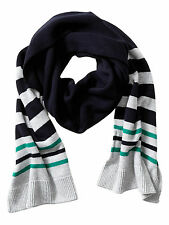 Brand NEW Banana Republic Striped Cotton Scarf Color Gray/Black/Green