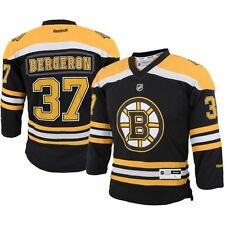 Patrice Bergeron YOUTH BOYS Jersey Home Black Boston Bruins by Reebok