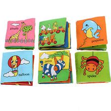 Soft fabric Baby Children Intelligence development Squeaky Picture Cloth Book