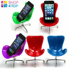MOBILE CELL PHONE iPHONE HOLDER MINI CHAIR DESK STAND HOME OFFICE NOVELTY GIFT