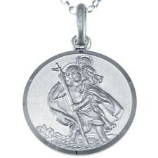Sterling Silver St Christopher Necklace (12 - 27mm) with Chain & Gift Box