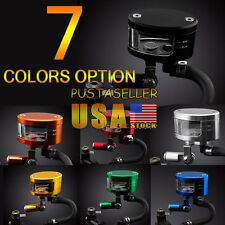 US Stock 7 Color Brake Reservoir Oil Fluid Cup Universal For YZF R1/R6 YZF 1000