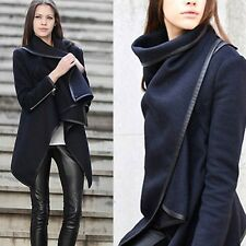 New Womens Lady Trench Slim  Coat Long Wool Blend Jacket Outwear Parka Overcoat