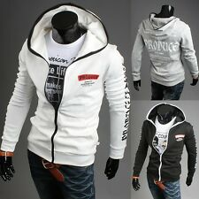 2014 New Casual Mens Slim Fit Zip Sweatshirt Hoodies Jacket Coat Fleece Hooded