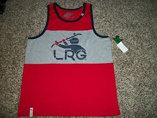 LRG Lifted Research Group New NWT Mens Tank Top Sleeveless Shirt Red Gray XL 2XL