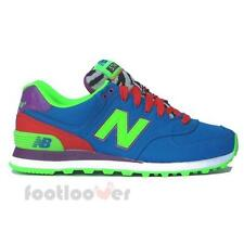 Scarpe New Balance 574 WL574BP Donna sneakers casual moda Blue-Orange Ripstop/Te