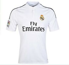 2015 Real Madrid Soccer Jerseys Home White Football Shirts Polyester Breathable