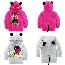Baby Kids Mickey Minnie Mouse T-shirt Tops Sweatshirt Hoodies Pullover Costume