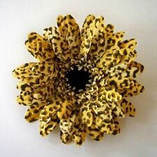 ANIMAL SKIN THEMED GERBERA DAISY ARTIFICIAL FLOWER HAIR CLIP/PIN BROOCH