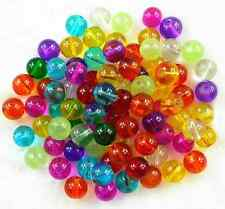 4mm 6mm  8mm transparent Mixed Color Round Glass Spacer Loose Beads